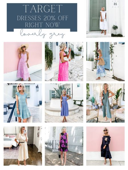 Loverly Grey sale alert: 🎉 Target is having 20% off summer dresses right now! All of these are in stock 🙌 run, before they sell out!   #LTKsalealert #LTKSeasonal #LTKunder50