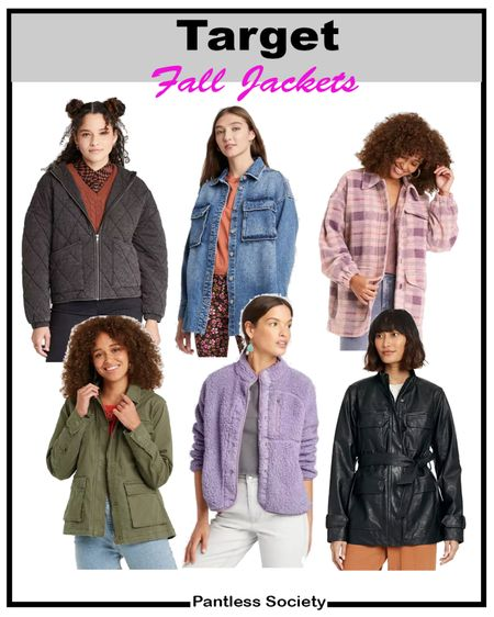 Target style. Fall fashion. Fall jacket. Leather jacket. Fall shacket. Denim jacket. Fall outfit. Fall wardrobe refresh. Labor Day sale. 20% off with Target Circle. Sale alert. Olive jacket. Plaid jacket.   #LTKsalealert #LTKunder50 #LTKstyletip