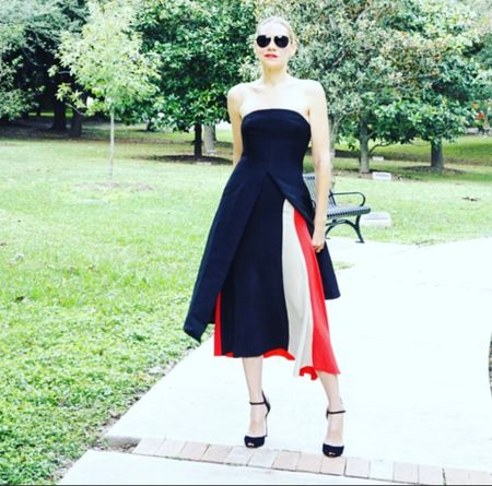 Pro-tip- layer a strapless dress over a knit skirt for a chic fall look! It's a fave of mine to wear to fall parties and weddings! #investmentpiece   #LTKstyletip #LTKwedding #LTKSeasonal