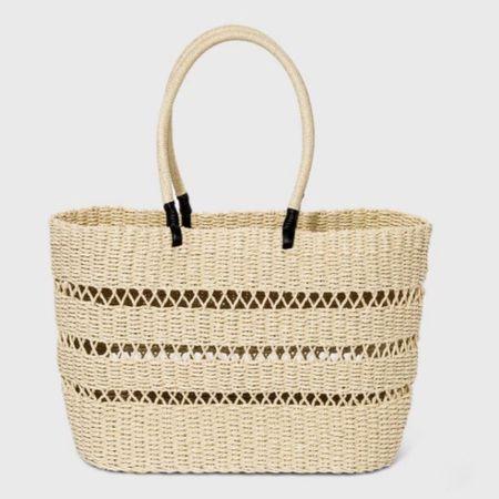 Straw beach bag Straw beach tote  http://liketk.it/3gw0k #liketkit @liketoknow.it #LTKunder50 #LTKswim #LTKstyletip