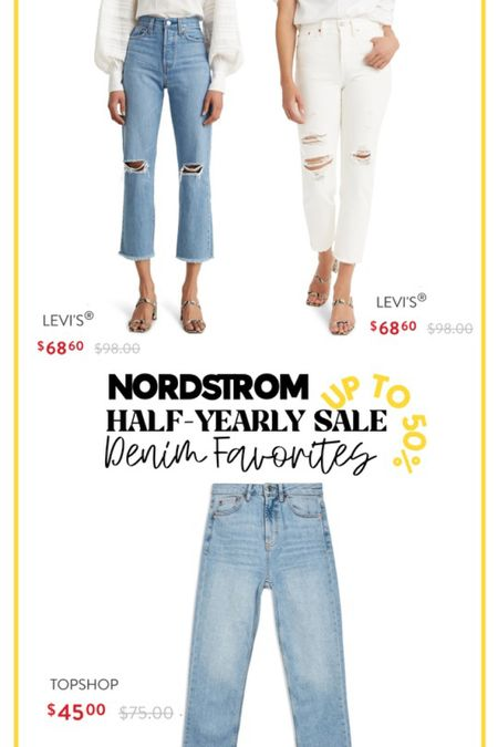 http://liketk.it/3gdoJ #liketkit @liketoknow.it #LTKsalealert denim on sale. Levi and Topshop Jeans. Favorite jeans on sale! Nordstrom