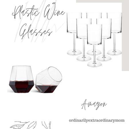 Plastic Wine Glasses http://liketk.it/3khGK #liketkit @liketoknow.it #LTKhome #LTKunder100 #LTKwedding