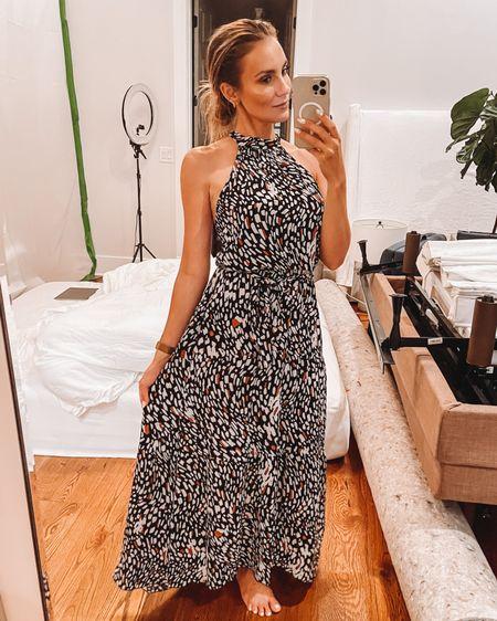 Amazon summer halter dress. Wearing size: Small ❤️ @liketoknow.it #liketkit #LTKunder50 http://liketk.it/3j6JU