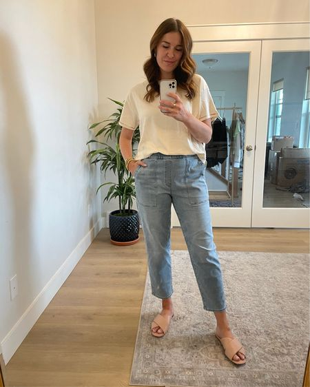 Best Madewell pull on jeans http://liketk.it/3gKZH @liketoknow.it #liketkit