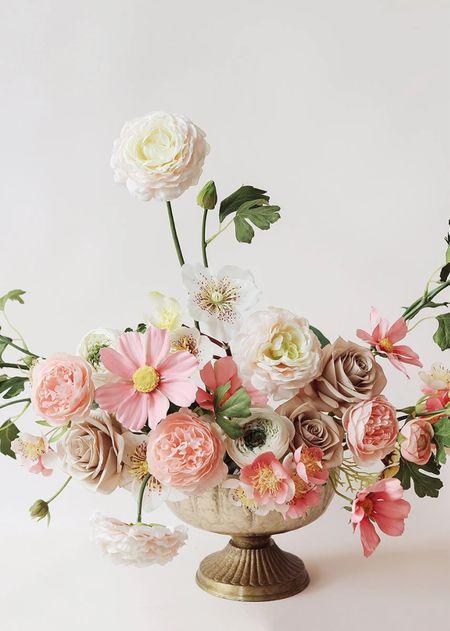 Home decor  Faux floral arrangements  Cachepot  Planters  Fall decor   #LTKhome #LTKunder50 #LTKunder100