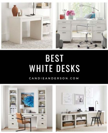 The best white desks in every top interior design style and trend! Perfect for back to school, working from home, parents, families, organization! Best modern desk, coastal desk, farmhouse desk, rustic desk! ❤️  #LTKhome