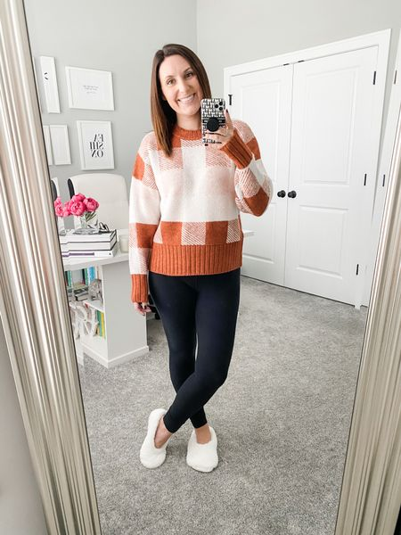 Hosting a family BBQ today and finally got to break out a new fall sweater! Since I'm running around the house, I decided it was only fitting to dig out matching slipper socks.   #LTKstyletip #LTKunder50 #LTKSeasonal