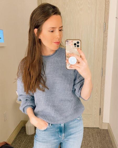 Cozy chunky sweater in size Small, casual outfit, fall outfit, skinny ankle jeans in size 26, nordstrom sale, NSale, casual outfit,   #LTKunder50 #LTKstyletip #LTKsalealert
