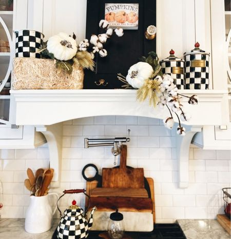 A touch of Fall Devore to the Kitchen!  Mackenzie Childs makes a great gift too!  #farmhousekitchen #whitekitchen    #LTKhome #LTKstyletip #LTKGiftGuide