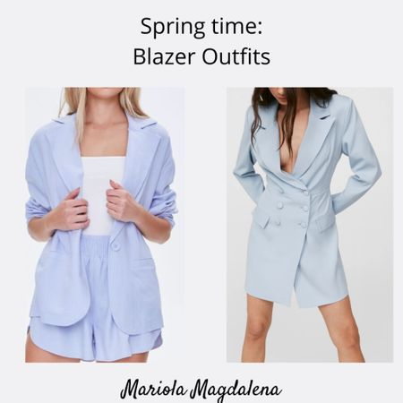 Spring Outfits: Blazer/Shorts Sets and Blazer Dresses! 💙  http://liketk.it/3dBri #liketkit @liketoknow.it   #LTKstyletip #LTKsalealert #LTKunder100