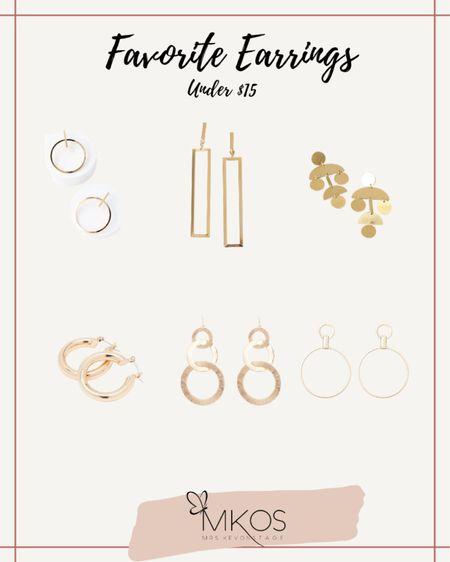 http://liketk.it/32ELC #liketkit @liketoknow.it A few of my favorite earrings under $15.