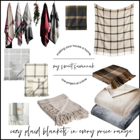Cozy plaid blankets for you to curl up with. There's something in every price range. Mohair, cotton, fleece, and wool. Loving the neutral fall vibes 🍂  #LTKSeasonal #LTKhome #LTKstyletip