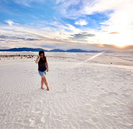 I found the comfiest outfit and the most gorgeous sunset at White Sands NP!    #LTKunder50 #LTKfamily #LTKsalealert
