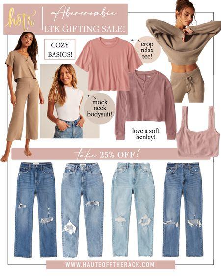 LTK gifting sale at Abercrombie!  #falloutfit #fallfashion #leatherpants #leathershorts #whitetop #matchingset #momjeans #denim #loungewear  #LTKDay    #LTKSale #LTKGiftGuide #LTKsalealert