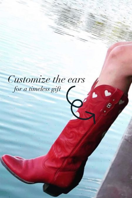 """City Boots are trending- created by a woman from SMU, they are a local brand.  You can customize the """"ears"""" to have your monogram or sayings. Order them now for a holiday gift (for yourself!)   #LTKGiftGuide #LTKworkwear #LTKshoecrush"""