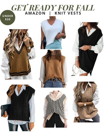 Get ready for fall - knit vests   #LTKunder50 #LTKstyletip #LTKSeasonal