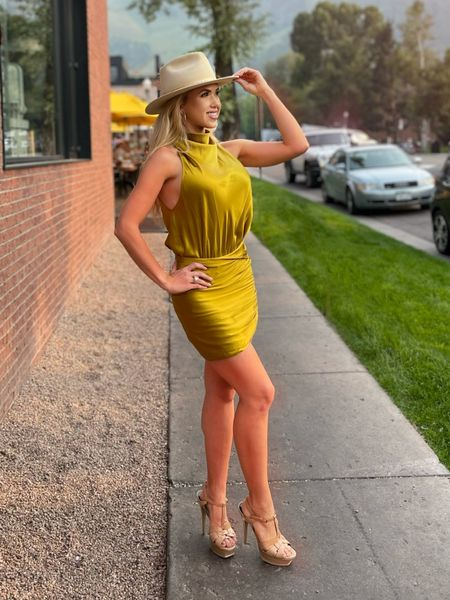 Obsessed with the cowboy hat added onto this outfit!  #yeehaw #western #style #revolve #cowboyhat #LTK #fashion #MissUSA #MissUniverse  #LTKtravel #LTKbeauty #LTKshoecrush