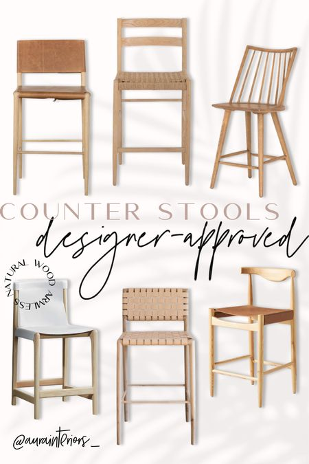Rounding up my favorite natural wood armless counter stools! Bar height also available in some models.  Let me know what style you'd like to see next! I'm thinking black counter stools 🖤  Shop my daily looks by following me on LIKEtoKNOW.it!! 🛒 http://liketk.it/3efYL #liketkit @liketoknow.it @liketoknow.it.home #LTKhome   white oak counter stool, white oak bar stool, white oak barstool, white oak stool, island seating, interior designers kitchen, trendy barstool, trendy bar stool, trendy counter stool, minimal counter stool, minimal barstool, minimal bar stool, mcgee co counter stool, mcgee co barstool, mcgee co barstool, light wood counter stool, light wood barstool, light wood bar stool, woven bar stool, woven counter stool, woven barstool, rattan counter stool, rattan barstool, rattan bar stool, unique bar stool, unique counter stool, unique barstool, designer barstool, designer counter stool, designer bar stool, cane barstool, cane counter stool, cane bar stool, whitewashed barstool, whitewashed counter stool, whitewashed bar stool, oak barstool, oak counter stool, oak bar stool, wood leather counter stool, wood leather barstool, wood leather bar stool, light wood armless counter stool, light wood armless barstool, light wood armless bar stool, armless barstool, armless counter stool, armless bar stool, wood counter stool back, wood barstool back, wood bar stool back, low back barstool, low back counter stool, low back bar stool, curved back barstool, curved back counter stool, curved back bar stool, Windsor counter stools Windsor bar stool, Windsor barstool, stitched leather counter stool, stitched leather bar stool, stitched leather barstool, wood white barstool, wood white counter stool, wood white bar stool, natural wood barstool, natural wood counter stool, designer approved, best counter stools, best bar stools, bar stools under 500, counter stools under 500, barstools under 500, natural wood island, White Island, natural wood island seating, White Island 