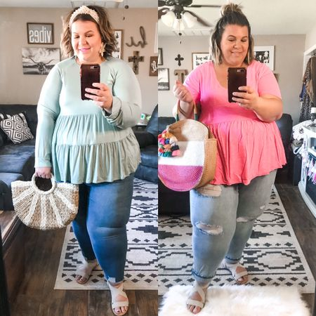 My favorite plus size jeans are on major sale this Memorial Day weekend! If you're looking for great plus size denim, I can't recommend these enough!   #LTKcurves #LTKsalealert #LTKunder50