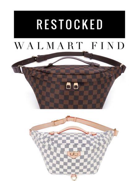 Restock Walmart Finds| Belt Bag| Crossbody|purse|handbag|      #LTKunder50 #LTKsalealert #LTKstyletip