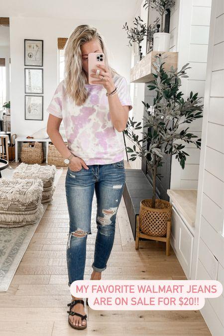 My favorite Walmart jeans are on sale for $20! The first is true to size. http://liketk.it/3i1z0 #liketkit @liketoknow.it #LTKunder50 #LTKstyletip #LTKsalealert