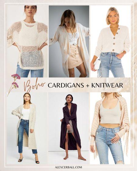 Boho cardigans + knitwear | cozy knits | jumpers | sweaters http://liketk.it/3fWUk #liketkit @liketoknow.it #LTKstyletip #LTKtravel