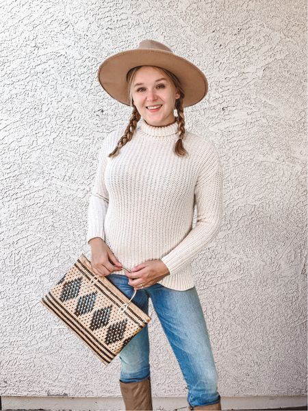 Hello Fall! Chunky Autumn Sweaters, wicker bags, Fedoras & Leather Boots  #LTKGiftGuide #LTKSeasonal #LTKHoliday