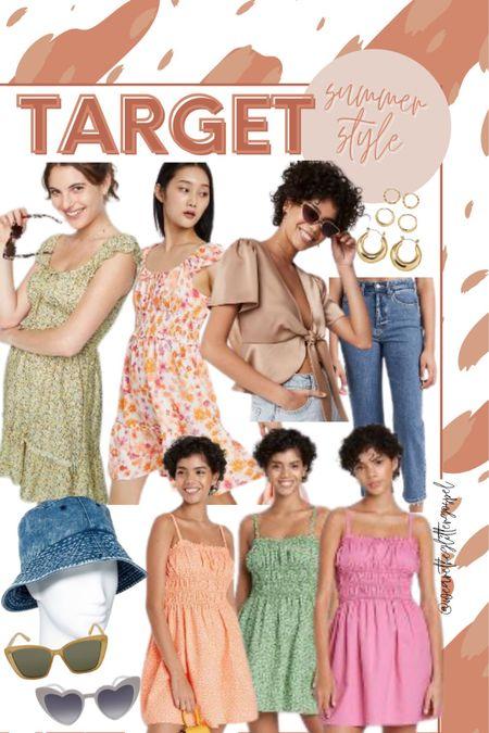Target summer style finds under $50  Dresses $25 Top $20 Jeans $22 All accessories under $20    #LTKunder50 #LTKstyletip