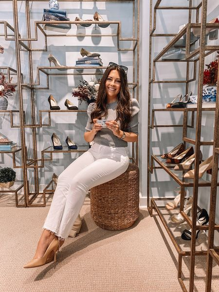 Wine, cookies, and shoes — name a better combo!   Had the absolute best time at the @sarahflint_nyc pop up! Can't wait for it to open because it's a shopping experience like no other! And don't forget you can use my code SARAHFLINT-BACAREYS for $50 off your first pair!  #LTKshoecrush #LTKstyletip #LTKSeasonal