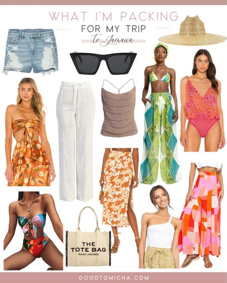 Shop my suitcase - what I packed for Jamaica! Swimsuit, skirt, scarf too, tote bag, hat, denim shorts + more!   #LTKstyletip #LTKSeasonal #LTKtravel