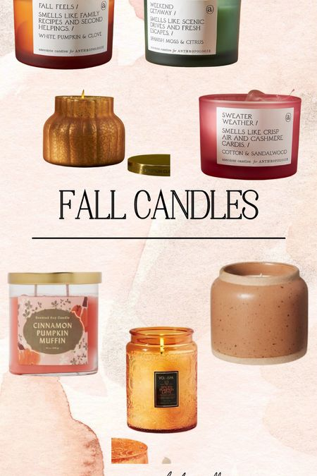 Fall candle options!