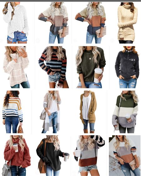 Alright y'all I finally finished my Amazon Sweater Round Up!! Not only are these sweaters super cute but they all have great reviews!! Happy shopping friends! http://liketk.it/2H8LQ #liketkit @liketoknow.it #LTKstyletip #LTKholidaystyle Shop your screenshot of this pic with the LIKEtoKNOW.it shopping app