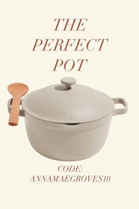 This pot is oven safe and does it all! Can replace your stockpot, dutch oven, saucepot, roasting rack, steamer, bread pot, braiser, spoon rest! Love this color. USE MY CODE ANNAMAEGROVES10 #gifted