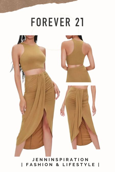 Forever 21 ✨LTK DAY SALE✨   Crop top midi slit skirt set  summer, summer sale, summer outfits, summer time, beach day, casual day, girls night out, date night, cute, trendy, aesthetic, soft girl, picnic, travel, spring time, easy to wear, crop top skirt set, forever 21 sale, ltkday http://liketk.it/3hzj1   #liketkit @liketoknow.it #LTKsalealert #LTKshoecrush #LTKstyletip Follow me on the LIKEtoKNOW.it shopping app to get the product details for this look and others
