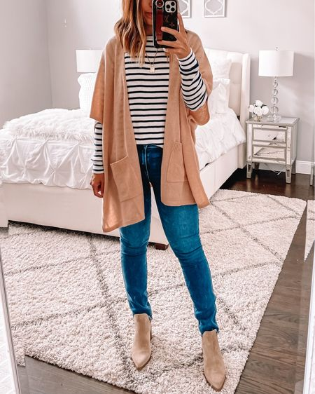 This cashmere Ruana was worth the $ for me. I will wear it year after year. With dress pants. Over dresses or casual like this. A fall staple   #LTKshoecrush #LTKsalealert #LTKunder100