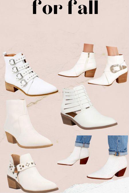 White boots for fall.  #LTKshoecrush #LTKunder50 #LTKunder100