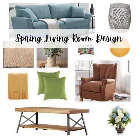 Spring Living Room Design. Spring inspiration ready to shop.   #LTKSeasonal #StayHomeWithLTK #LTKhome