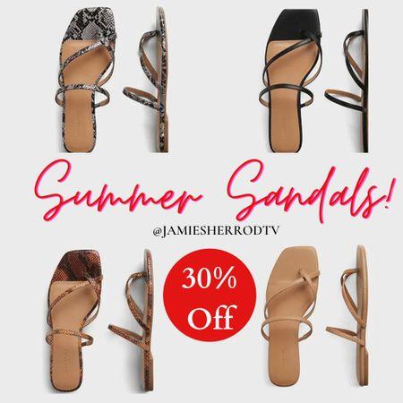 Summer sandals you'll love  ❤️ Some of these are up to 30% off!  #LTKSeasonal #LTKsalealert #LTKshoecrush