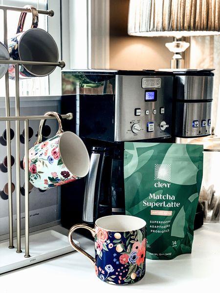 Coffee Bar. Coffee Station. Anthropologie Kitchen. Anthropologie Home. Anthro Monogrammed Coffee Cups. Cuisinart Coffee Station.    http://liketk.it/3jCVH #liketkit @liketoknow.it #LTKhome #LTKsalealert #nsale #nordstrom #anthropologie @liketoknow.it.home