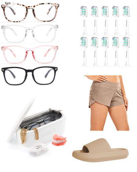 Recent Amazon Purchases! Toothbrush heads Jewelry Cleaner Lulu Dupe Shorts Blue light glasses Comfy Sandal Slides   #LTKbeauty #LTKshoecrush #LTKhome @liketoknow.it #liketkit http://liketk.it/3jlj2