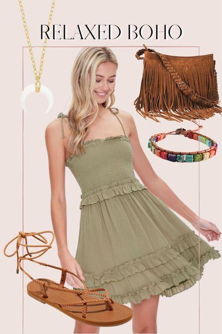 Casual boho outfit with a summer dress http://liketk.it/3hPSd @liketoknow.it #liketkit #LTKunder50 #LTKunder100