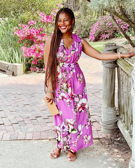 May flowers? This floral print maxi is a beautiful spring summer wardrobe add! #LTKstyletip http://liketk.it/3epYd #liketkit @liketoknow.it