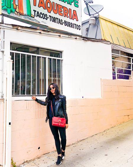 Leather jacket, spring fashion, http://liketk.it/39wgg #liketkit @liketoknow.it
