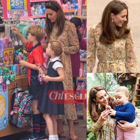Kate wearing & Other stories floral midi #mom #shop #floral   #LTKstyletip #LTKfamily