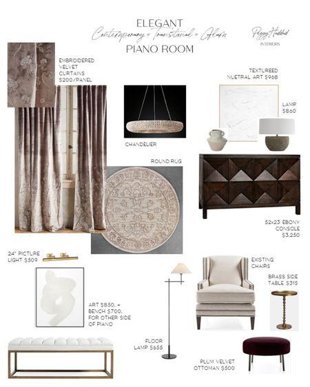 Elegant Contemporary + Transitional + Glam Piano Room http://liketk.it/2XSBY #liketkit @liketoknow.it #StayHomeWithLTK @liketoknow.it.home