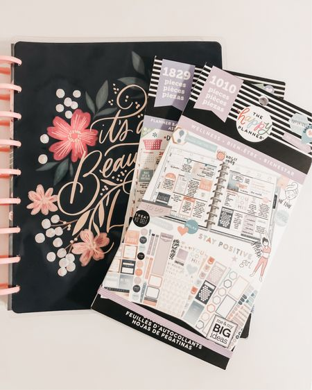 My currently planner from the Happy Planner + the stickers I'm using. The stickers are super cute! #LTKhome #LTKsalealert #LTKunder50  http://liketk.it/35uuI #liketkit @liketoknow.it