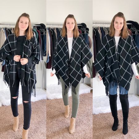 This poncho was my #1 best seller in 2019 and for good reason. It's the most versatile piece in my closet! I've styled it probably close to 30 ways 😆. It's featured in the Best Buys post I shared earlier this week along with all my other best sellers and my own best purchases of the year.   I also shared the first post in my capsule wardrobe series yesterday: How to create your OWN capsule wardrobe 😍 there's no better time to start than now! Click the link in my bio to check out both posts 💕 http://liketk.it/2IHY3 #liketkit @liketoknow.it #LTKstyletip