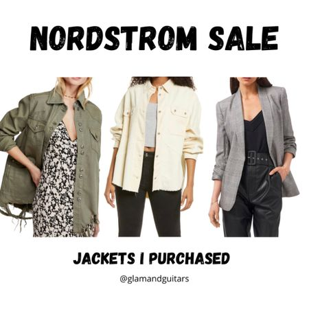 My favorite jackets and blazer from the Nordstrom sale!   #LTKunder100 #LTKworkwear #LTKsalealert