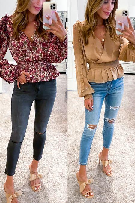 Floral tops size Xs jeans smallest size   #LTKunder50 #LTKstyletip #LTKunder100
