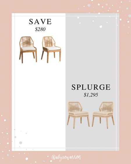 Rope dining chairs for a lot less at TJ Maxx online! The ones at TJ Maxx are indoor / outdoor too!   Kitchen, dining room, look for less, home decor, side chairs, patio furniture  #LTKhome